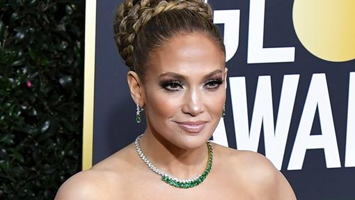 Jennifer Lopez during the red carpet of the Golden Globes 2020