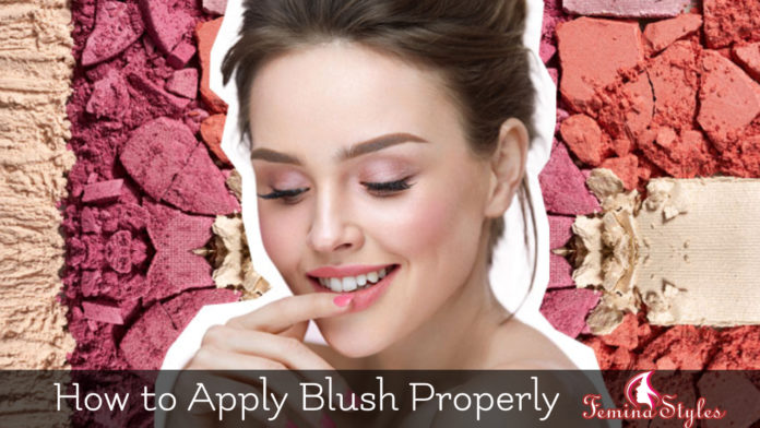 apply blush